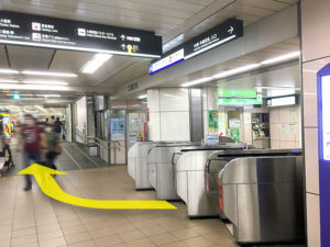 大阪メトロ東梅田駅すぐの心療内科うめだ心と体のクリニックのアクセス北東改札