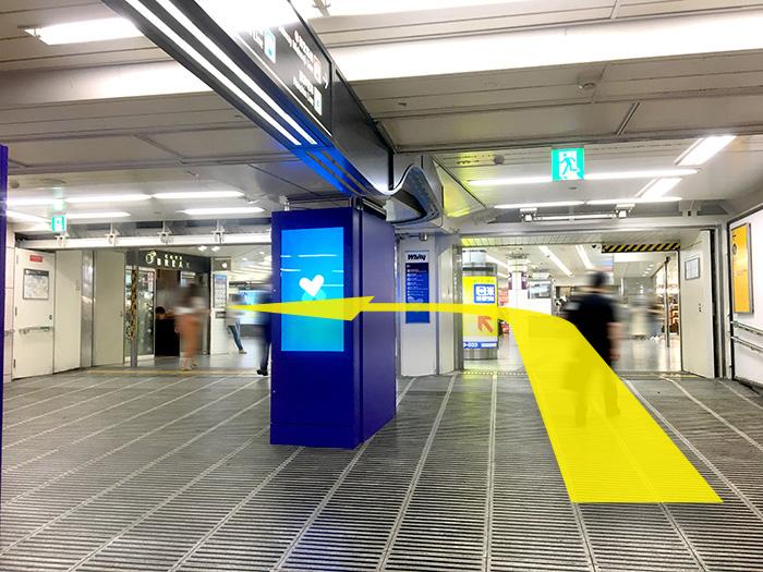 大阪メトロ東梅田駅すぐの心療内科うめだ心と体のクリニックのアクセス